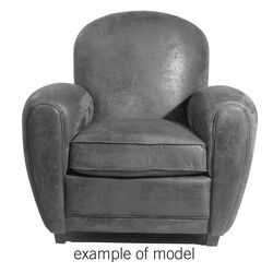 Armchair Round Individual Leather 2