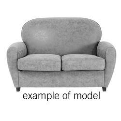Sofa 2-Seater Round Individual Fabric 1