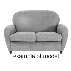 Sofa 2-Seater Round Individual Leather 2