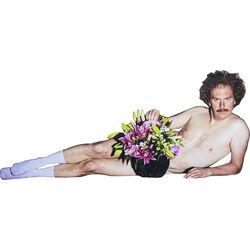 Cardboard Display Campaign Flowers Guy in Socks
