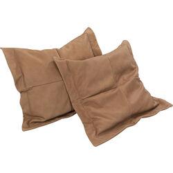 Cushions Franki Leather Cognac 75x75 (2/Set)