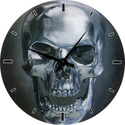 Wall Clock Glass Skull Ø80cm