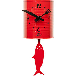 Wall Clock Tin Fish