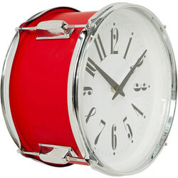 Wall Clock Drum Red Ø28cm