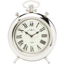 Table Clock Pocket Round Silver