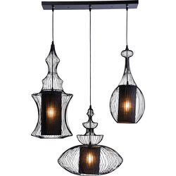 Pendant Lamp Swing Iron Tre Black