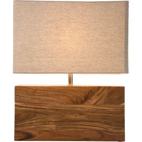 Table Lamp Rectangluar Wood Nature