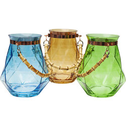 Vase Bamboo 25cm Assorted