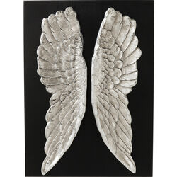Wall Decoration Wings Silver 110x80cm