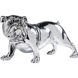 Deco Figurine Bulldogge Silver 22cm