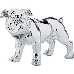 Deco Figurine Bulldogge Silver Smart 42cm