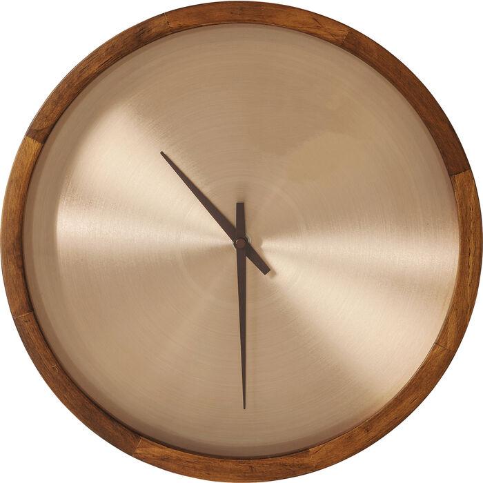 wall clock edge copper 33cm kare design. Black Bedroom Furniture Sets. Home Design Ideas
