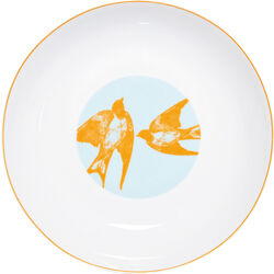 Soup Plate Birds in Love (2/Set)