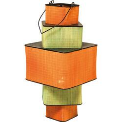 Lantern Bamboo Step Square 79cm