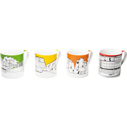 Mug Buildings Pop Assorted