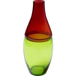 Vasija Couple rojo verde 42cm