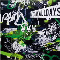 Picture Graffiti Pay Day 100x100cm