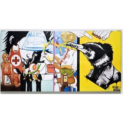 Picture Graffiti Emergency 50x100cm