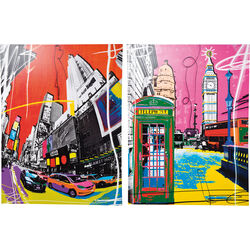Picture Pop Art Cities 158x120cm Assorted