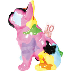 Money Box Dog Sitting Colore 22cm