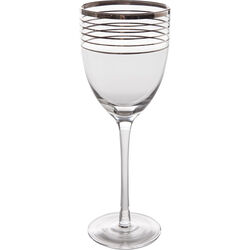 White Wine Glass Metropolis Rings