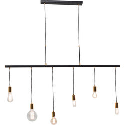 Pendant Lamp Pole Black Six