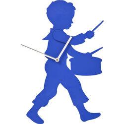 Wall Clock Little Drummer Blue