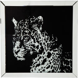 Picture Frame Mirror Leopard