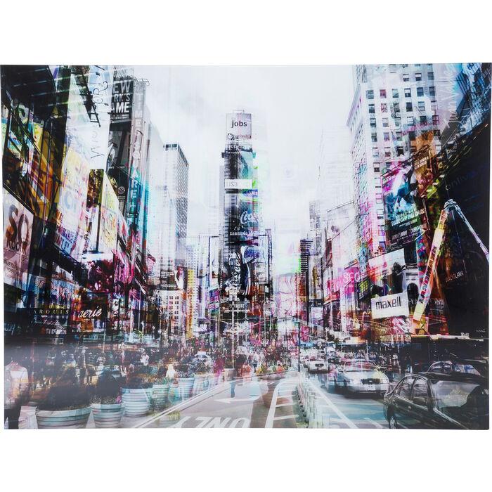picture glass times square move 120x160cm kare design. Black Bedroom Furniture Sets. Home Design Ideas