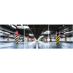 Picture Glass Triptychon Garage 80x240cm (3/Set)