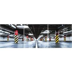 Obraz/Obrázek sklo Triptychon Garage 80x240