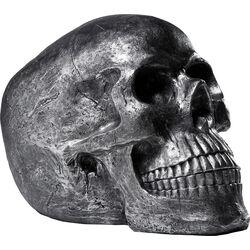 Deco Head Skull Silver Antique