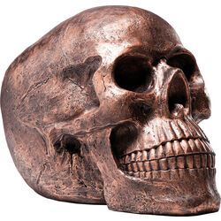 Deco Head Skull Copper Antique