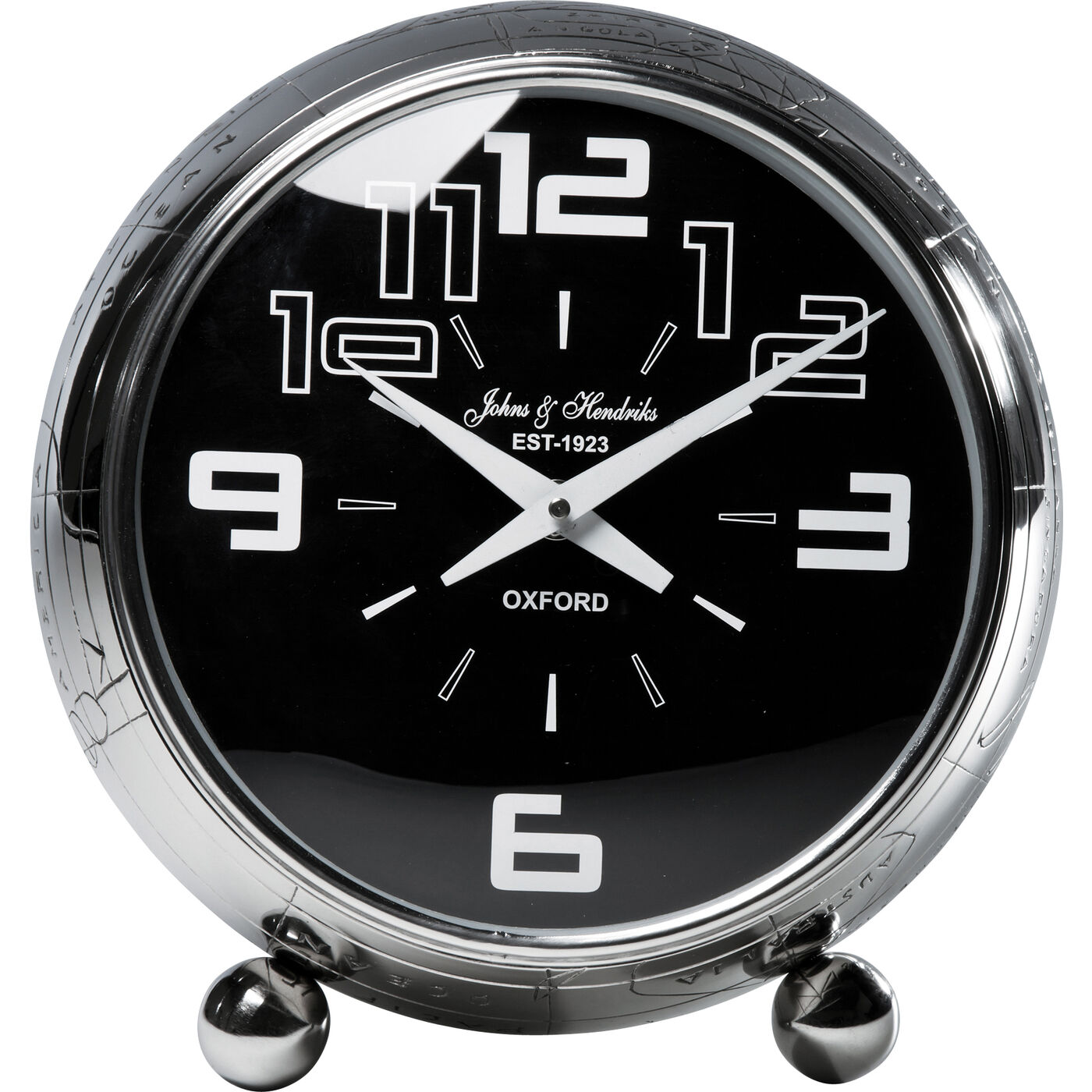 Table Clock Globe Alu