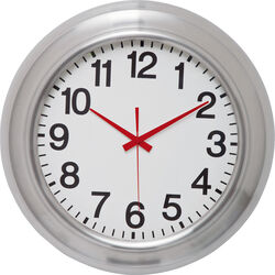 Wall Clock Pure Red Ø46cm