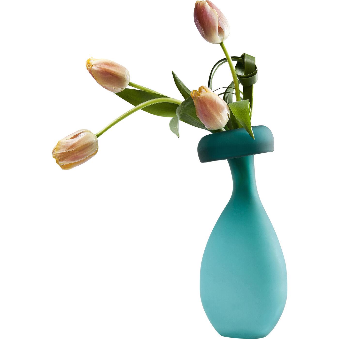 Vase blow up turquoise 40cm