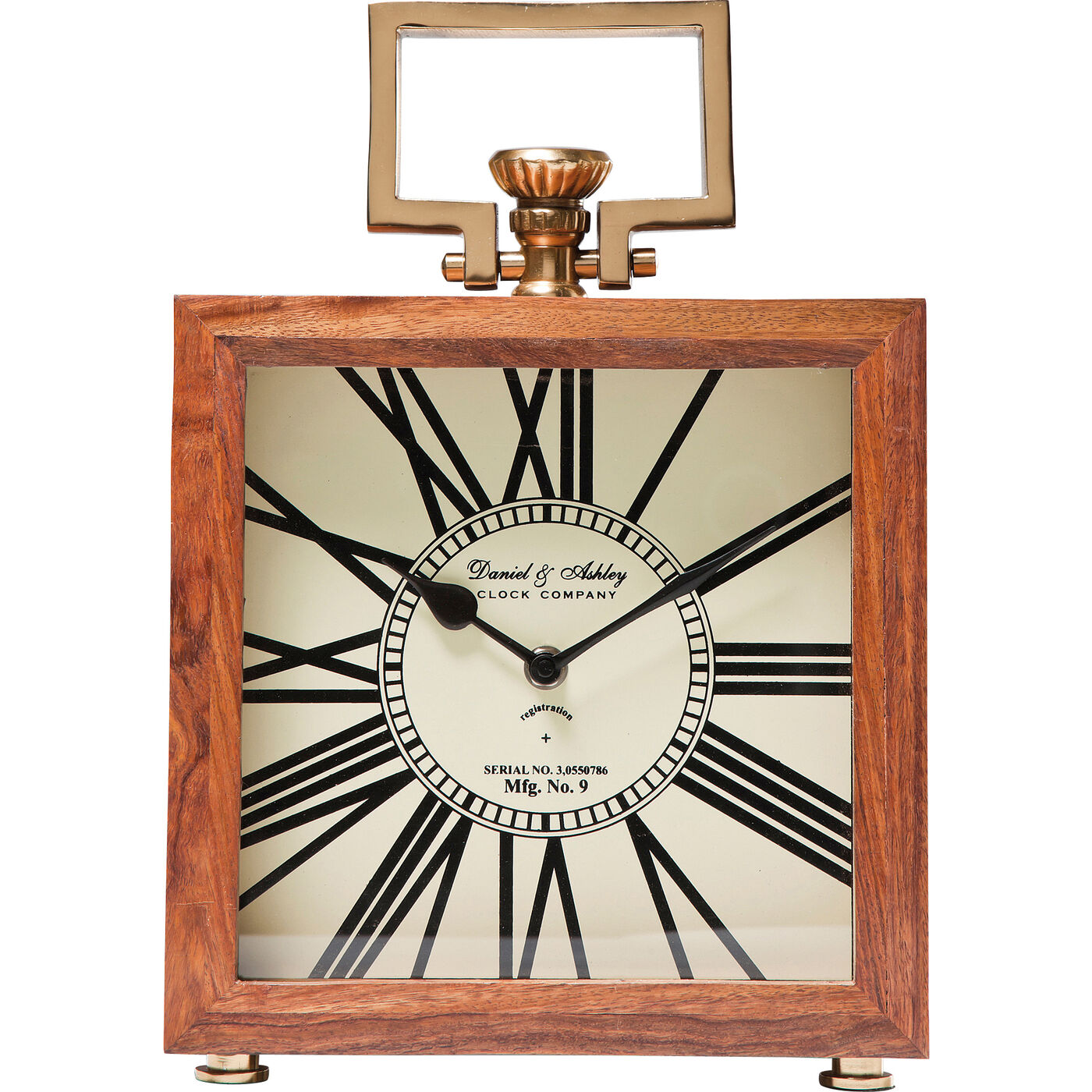 Table Clock Grandfather Wood 25cm