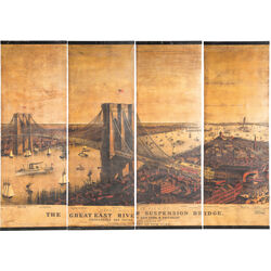Wall Decoration East River Bridge Canvas (4/Set)