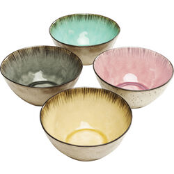 Cereal Bowl Crackle Vivido Assorted