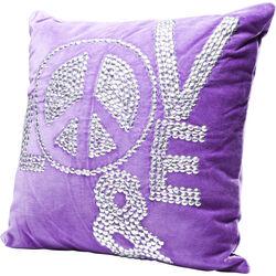 Подушка Love and Peace 40x40cm