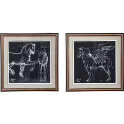 Picture Frame Horse Studies 110x110cm Assorted
