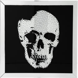 Picture Frame Mirror Skull 100x100cm