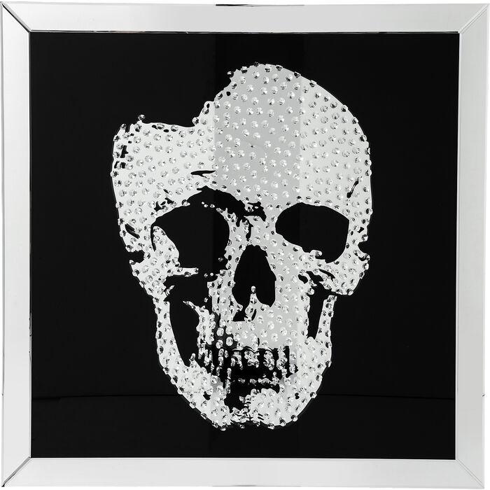 Picture Frame Mirror Skull 100x100cm - KARE Design