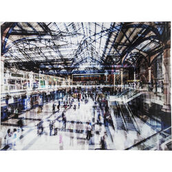 Picture Glass Train Station 120x160cm