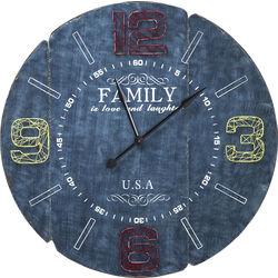 Wall Clock Family Blue Ø105cm