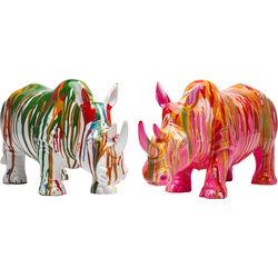 Deco Figurine Rhino Colore Assorted