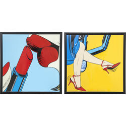 Picture Frame Girls Out 74x74cm Assorted
