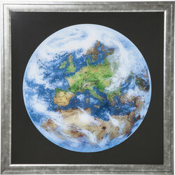 Picture Frame Earth View 84x84cm
