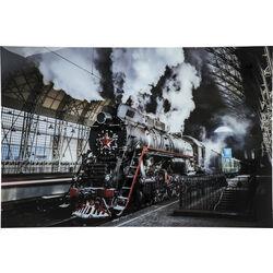 Picture Glass Steam Train 100x150cm