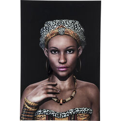 Picture Glass African Queen Face 80x120cm